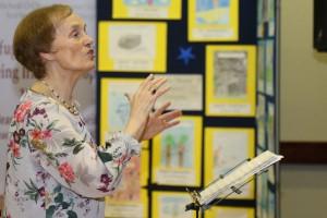 Angela Currid conducting the choir