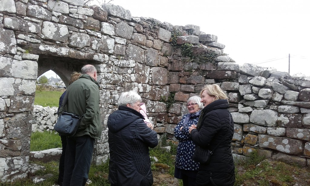 Looking at the ruins of Old Kilbarron Church